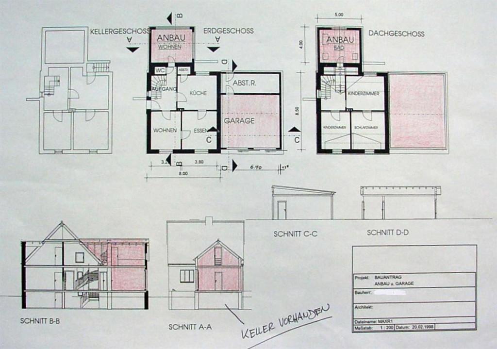 bauantrag anbau an ein einfamilienhaus ara. Black Bedroom Furniture Sets. Home Design Ideas